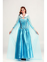 cheap -Princess Cinderella Movie / TV Theme Costumes Dress Cosplay Costume Women's Vacation Dress Halloween Festival / Holiday Terylene Women's Easy Carnival Costumes Patchwork