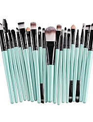 cheap -20 pcs pro makeup brushes set powder foundation eyeshadow eyeliner lip cosmetic clearance brush & #40;green black& #41;