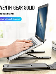 cheap -Notebook Computer Stand Tablet Computer Stand Black And White Cooling Base Foldable ABS Adjustment Notebook Computer Stand