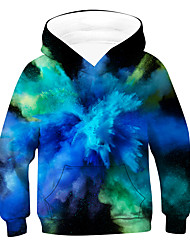 cheap -Kids Boys' Hoodie & Sweatshirt Long Sleeve 3D Blue Children Tops Active Basic Children's Day