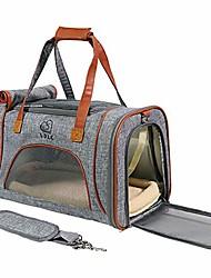رخيصةأون -حقيبة سفر الحيوانات الأليفة الناقل للحيوانات الأليفة حقيبة كتف قابلة للتنفس قابلة للطي ، جيدة التهوية ومريحة للقطط الصغيرة والمتوسطة الحجم والكلاب