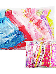 cheap -Doll Dress Party / Evening For Barbiedoll Lace Organza Dress For Girl's Doll Toy / Kids