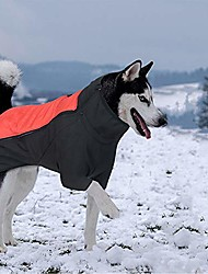 cheap -dog jacket thick warm winter coat large dog clothes outdoor waterproof dog vest with leash hold for medium and large dogs