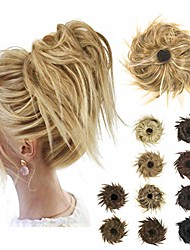 cheap -tousled updo messy bun hair piece,  hair buns hair piece curly messy chignon hair bun extensions for women synthetic ponytail hair extensions scrunchies with elastic rubber band (22h613#)