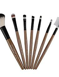 cheap -7pcs makeup cosmetic brushes eyeshadow eye shadow foundation blending brush (gold)
