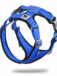 cheap -soft dog vest harness no pull small pet vest harnesses with mesh padded reflective adjustable pet vest easy control step-in pet harnesse or puppy small medium dogs (m,blue)