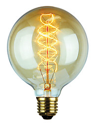 cheap -1pc 60 W G125 Transparent Body Incandescent Vintage Edison Light Bulb 220-240 V