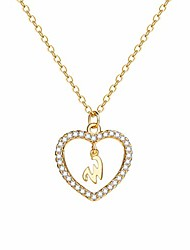 "cheap -charm necklace message card""one in a million""letter w necklace initial necklace heart love necklace cz cubic zirconia pendant love necklace woman jewelry"