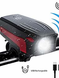 cheap -bike light, bike horn loud, super bright bicycle headlight waterproof,130 db, 5 horn sounds, 5 lighting modes, 2000mah usb rechargeable battery (2018 upgrade) (bike light+horn)