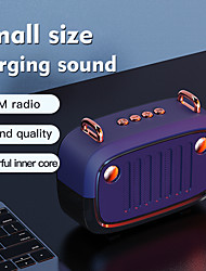 cheap -Cool Portable Bluetooth V5.0 Speaker Long Worktime Outdoor Loudspeaker Support TF Card/U Disk/FM Radio Wireless Column