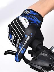 cheap -Winter Bike Gloves / Cycling Gloves Mountain Bike Gloves Thermal Warm Adjustable Waterproof Breathable Full Finger Gloves Sports Gloves Fleece Mesh Red Blue Green for Velcro / Anti-Slip