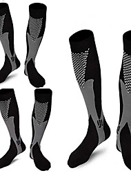 cheap -Compression Socks Athletic Sports Socks 3 Pairs Long Women's Men's Tube Socks Breathable Sweat wicking Comfortable Gym Workout Running Skateboarding Cycling Soccer Sports Novelty Nylon Black / Street