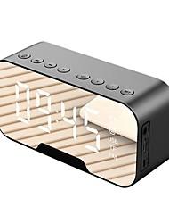 cheap -Q5 Wireless Bluetooth 5.0 Speaker Desktop Bluetooth Alarm Clock Mirror Alarm Clock Speaker With Phone Holder FM Function