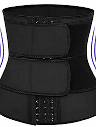 cheap -waist trainer corset trimmer belt for women weight loss, waist cincher shaper slimmer-black-xl