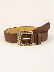 cheap -Women's Waist Belt Party Street Dailywear Casual White Brown Belt Pure Color Basic Fall Winter Spring Summer