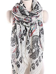 cheap -Women's Active Rectangle Scarf - Skull Washable