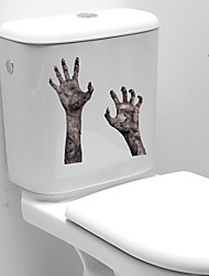 cheap -3D Horror Handprint Halloween Wall Stickers Decorative Wall Stickers, PVC Home Decoration Wall Decal Wall Decoration / Removable 23*25CM