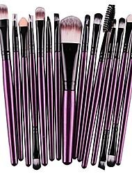 cheap -15 pcs/sets eye shadow foundation eyebrow lip brush makeup brushes tool & #40;purple& #41;