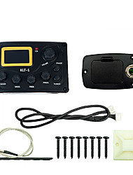 cheap -NAOMI Acoustic Guitar Bass EQ Preamp  KLT-1 LCD Display With Guitar Tuner Guitar Pickup