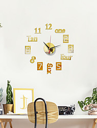 cheap -16 Inch Modern Design DIY Wall Clock 3D Acrylic Mirror Clock With Quartz Needle  For Living Room