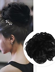 cheap -Headpiece Hair Accessory chignons Casual / Daily Loose Curl Hair Bun Women Synthetic Adorable Synthetic Hair Hair Piece Hair Extension Natural Black #1B Medium Brown Chestnut Brown