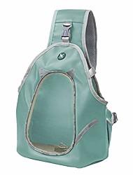 رخيصةأون -حقيبة ظهر أمامية للحيوانات الأليفة ، حقيبة سفر ناعمة مع جيب جانبي للقطط الصغيرة ، أزرق