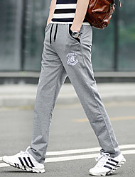 cheap -Men's Sweatpants Track Pants Sports Pants / Trousers Athleisure Wear Exercise & Fitness Running Casual / Daily Plus Size Sport White Gray