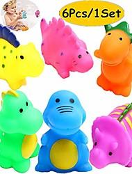 billige -badekar legetøj dinosaur baby legetøj jul børn sjov sprøjte legetøj flydende badeværelse legetøj assorterede farver 6stk
