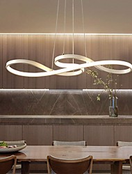 cheap -1-Light 74cm Acrylic Dimmable Pendant Lights Chandelier Adjustable Half Flush Mount Ceiling Hanging Lamp for Home Livingroom Lighting White Black Gold