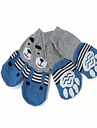 cheap -dog socks anti-slip pet cat socks dog paw protectors traction control cotton breathable pet paw protector for indoor wear, small medium large dogs, set of 4 (4xl, blue)