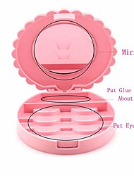 cheap -cosmetic case with mirror eyelash case makeup storage box travel cosmetic bag pink place eyelashes
