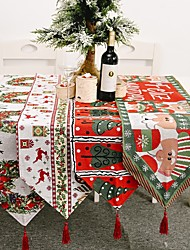 cheap -Christmas Table Runner Knitting Linens Contemporary Holiday Table Cover Table Decorations For Christmas Rectangular 180*35cm 1 Pcs