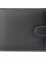 cheap -rfid blocking bifold snap closure wallet with coin zipper pocket for men