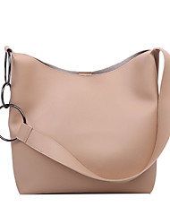 cheap -Women's Bags PU Leather Bag Set 2 Pieces Purse Set Zipper Daily Holiday Bag Sets 2021 Handbags Black Khaki Brown