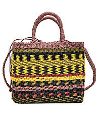 cheap -Women's Bags Top Handle Bag Straw Bag Bohemian Style Outdoor Handbags Rainbow