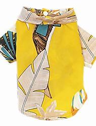 cheap -hawaiian dog shirts aloha dog shirt pet summer cool summer flower pineapple shirt for small to medium puppy dog cat & #40;s, hawaiian style flower shirt& #41;