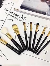 cheap -Professional Makeup Brushes 9pcs New Design Travel Size Makeup Brush Set And Cosmetic Bag Blush Concealer Eye Shadow Makeup Brush Set