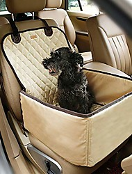 cheap -pet bucket seat cover booster seat 2 in 1 deluxe dog& cat front seat cover for cars non- slip backing waterproof (black)