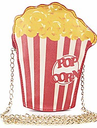 cheap -popcorn novelty shoulder bag food shape,pu crossbody purse for girl woman
