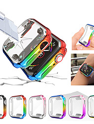 رخيصةأون -color watch case for apple watch series 6 se 5 4 3 2 1 rainbow soft tpu watch cover for iwatch 38mm 42mm 40mm 44mm tpu watch screen protector