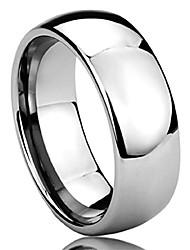 cheap -2mm 4mm 6mm 8mm mens womens titanium wedding band ring silver/gold/rose gold/black band ring sz: 6.5