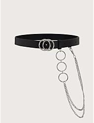 cheap -Women's Party / Basic / Vintage Waist Belt - Solid Colored