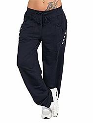 رخيصةأون -بنطلون نسائي ، بنطلون نسائي ربيعي ، سروال رياضي فضفاض ، سروال لياقة بدنية ، بنطلون برباط ، كحلي