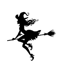 cheap -Halloween Witch Wall Sticker Graffiti Self Adhesive Living Room Mural PVC Sticker