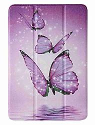 cheap -Case For Apple iPad mini 1/2/3 7.9'' iPad mini 4 7.9'' iPad mini 5 7.9'' with Stand Flip Pattern Full Body Cases Purple Butterfly PU Leather TPU