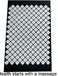 cheap -massager acupressure mat relief back neck foot pain stress muscle relaxation perfect gift (black 2)