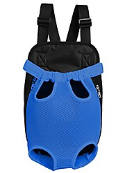 cheap -legs-out front pet dog carrier,hands-free adjustable backpack travel bag for small medium puppy doggie cat bunny breeds outdoor (m, mesh_blue)