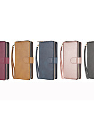 cheap -Case For Samsung Galaxy S20 Ultra S20 Plus S20 S10 Lite S10 Plus S10E S10 S9 Plus S9 S8 Plus S8 A91 A50S A50 A40 A30S A30 A20 A10 Card Holder Flip Magnetic Full Body Cases Solid Colored PU Leather