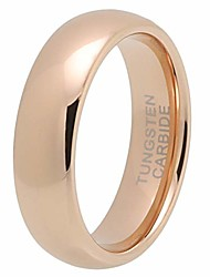 cheap -6mm mens tungsten carbide rings womens rose gold wedding bands classic domed polished shiny comfort fit