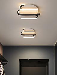 cheap -24cm LED Corridor Lamp Ceiling Light Geometric Design Modern Simple Flush Mount Lights Kitchen Entrance Hall Porch Balcony Lamp Metal 220-240V
